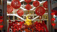 KUALA LUMPUR, MALAYSIA - CIRCA FEB 2015: Interior of Pavilion Kuala Lumpur, a Stock Footage