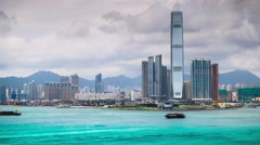 Kowloon Skyline Stock Footage