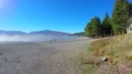 Stock Video Footage of Beautiful Autumn Morning At Lake Tekapo, Pan Left
