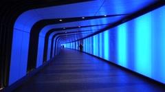 Light Tunnel, Kings Cross, London. Stock Footage