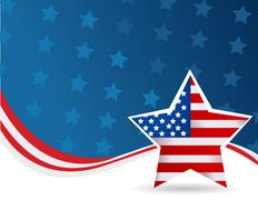 4th July background Stock Illustration