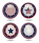 United States Flag Glossy Buttons Stock Illustration