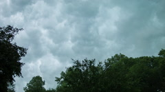 Time Lapse Storm clouds with dark, puffy clouds Stock Footage