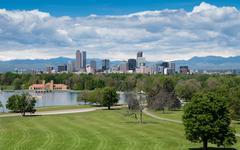 Downtown Denver Scenic Stock Photos