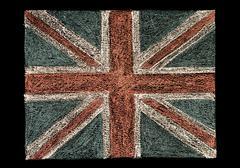 British Union jack flag, hand drawing with chalk on blackboard Stock Photos