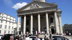St Martin in the Fields Church, London Stock Footage