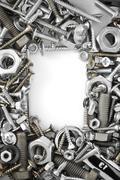 Hardware tools on white Stock Photos
