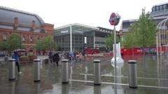 St Pancras International Railway Station, London Stock Footage