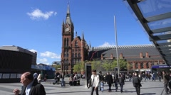 St Pancras International Railway Station, London Stock Footage