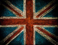 British Union jack flag, hand drawing with chalk on blackboard - stock photo