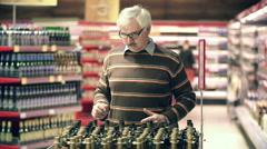 Grandpa Old Cough Medicine - stock footage