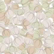 Stock Illustration of Garlic pattern. Seamless background with beige garlic. Vector texture