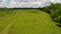 Aerial Footage of Etowah Indian Mounds Near Cartersville, GA 05-30-2015 Stock Footage