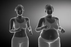 From obesity to healthy life style Stock Illustration