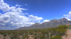 Organ Mountains Spring Timelapse Wide Stock Footage