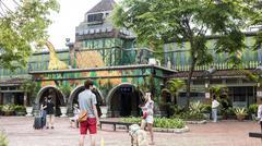 Jimmy Square in Ilan County, Taiwan - stock photo