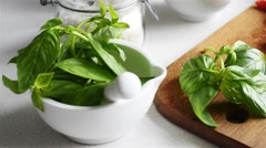 Homemade Mediterranean cuisine Stock Footage