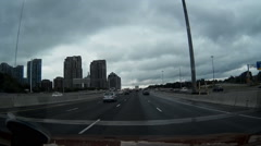POV dashcam driving on the 401 highway in ontario Stock Footage