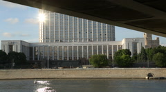 The building of the Russian government Stock Footage