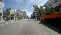 Timelapse of car drive POV of trafic at Via Egnatia street in Thessaloniki Stock Footage