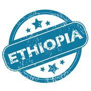 ETHIOPIA round stamp Stock Illustration