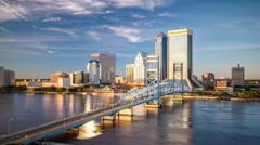 Jacksonville, Florida, USA Skyline Stock Footage