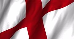 England waving flag 4K Stock Footage
