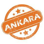 Stock Illustration of Ankara round stamp