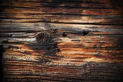 Stock Photo of beautiful texture of old spruce plank with vignette, ready for your design