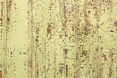 weathered yellow paint surface on wood, texture  ready for your design - stock photo