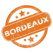 Bordeaux round stamp - stock illustration