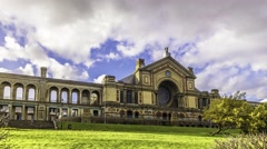 Timelapse view of Alexandra Palace in London Stock Footage