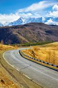 Altai mountain federal road M52 - stock photo