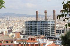 Barcelona Panorama, Spain - stock photo