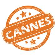 Cannes round stamp Stock Illustration