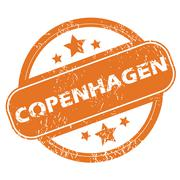 Copenhagen round stamp - stock illustration