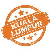 Kuala Lumpur round stamp - stock illustration