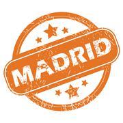 Madrid round stamp - stock illustration