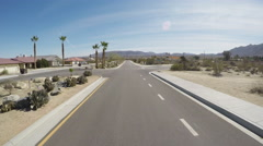 Driving New Residential Street- 29 Palms California Stock Footage
