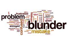 Blunder word cloud concept Stock Illustration