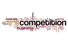 Competition word cloud concept Piirros
