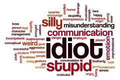 Idiot word cloud concept Stock Illustration