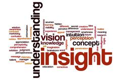Insight word cloud concept - stock illustration