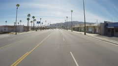 Viewpoint Driving 29 Palms California Main Street Stock Footage