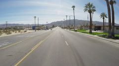 Viewpoint Driving Main Street In 29 Palms California Stock Footage