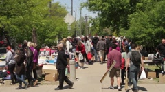 Ottawa Ontario Canada, World's Biggest Yard Sale - Great Glebe Garage Sale Stock Footage