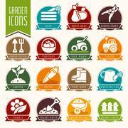 Garden - farm icon set - stock illustration