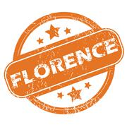 Florence round stamp Stock Illustration
