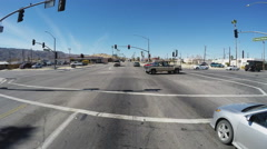 Wide Shot Intersection In 29 Palms California Stock Footage