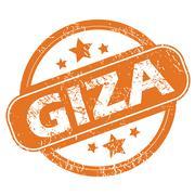 Stock Illustration of Giza round stamp